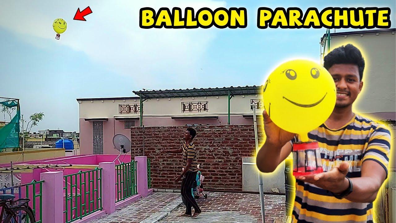 How to Make Balloon Parachute   பலூன் வைத்து பாராசூட்  செய்யலாம் வாங்க!   Vijay Ideas