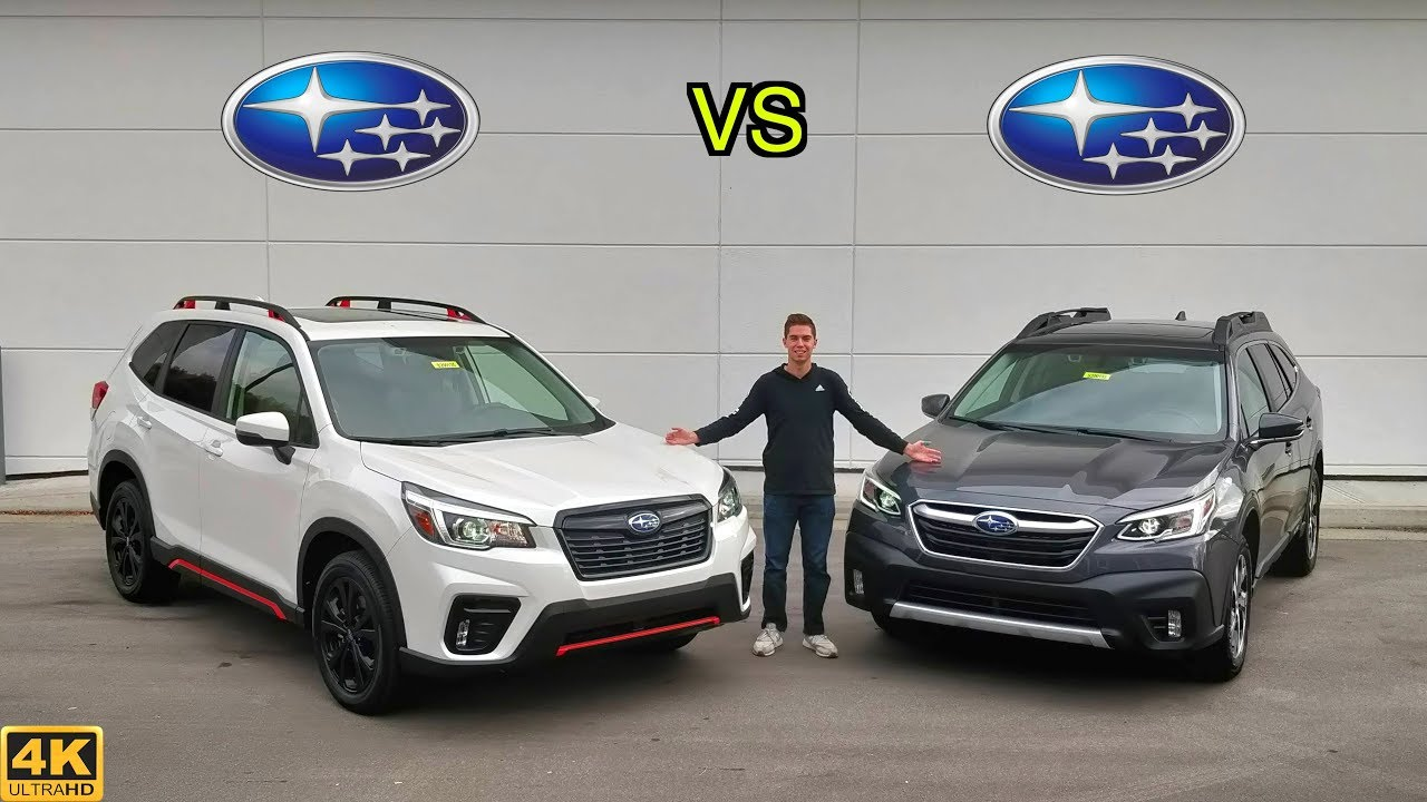 2020 Subaru Outback vs Subaru Forester, By the Numbers