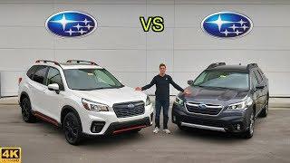 BEST SUBARU CUV -- 2020 Subaru Outback vs. 2020 Subaru Forester: Comparison