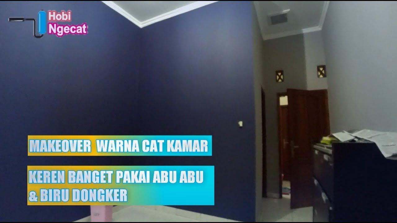 Makeover Warna Cat Kamar Tidur Cowok Jadi Keren Kombinasi Warna Biru Dongker Dan Abu Abu
