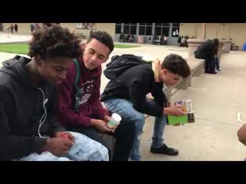 Riverbank High School bottle flipping