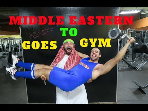 MIDDLE EASTERN GOES TO GYM