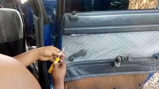 Cara mudah membuka putaran kaca mobil