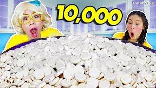 แข่งกิน นมอัดเม็ด มอมิ้ลค์ 10000 เม็ด 🐮😀 แพ้โดนเทสไลม์ ชิคกี้พาย VS จ้าว