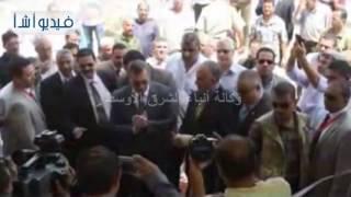 بالفيديو .. وزير الرى يفتتح مشروع تطوير محطة طلمبات روافع الطاجن بالفيوم