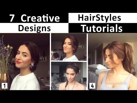 7 Amazing Creative Hair Styles Tutorial  ( Girls Must Watch )