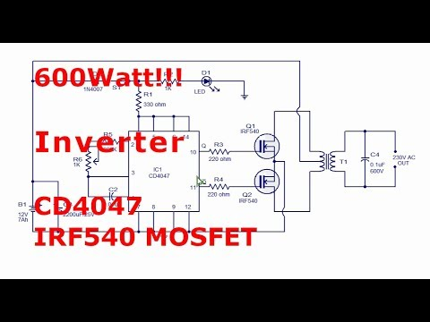 Full Download] 750watt Inverter With Cd4047 And Irf3205 Power Mosfets