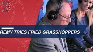 Jerry Remy eats a grasshopper at Safeco Field