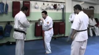 """El Shihan Akira Masuda impartió una masterclass de """"FreeStyle Karate"""" en el Belsa Dojo el 17 de mayo de 2012. Akira Masuda Superó el Giaku Niun Kumite."""