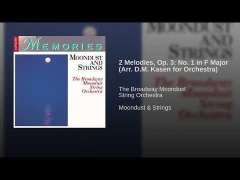 2 Melodies, Op. 3: No. 1 in F Major (Arr. D.M. Kasen for Orchestra)