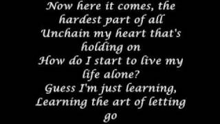 Lyrics  - The Art of Letting Go - Mikaila