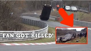 NISSAN GTR CRASH IN NURBURGRING AND KILLING A FAN! VOL 2