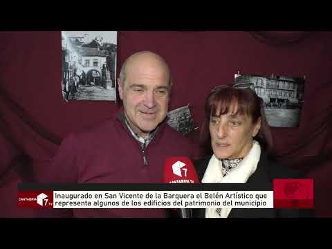 Inaugurado en San Vicente de la Barquera el Belen Artístico que representa algunos de los edificios