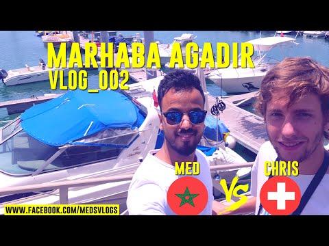 تحدي اللغة بين مغربي وسويسري#Vlog02#MARHABA AGADIR