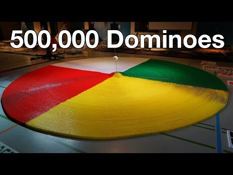 500,000 Dominoes - The Year in Domino - 3 Guinness World Records