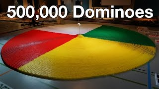500,000 Dominoes - The Year in Domino - 3 Guinness World Rec...