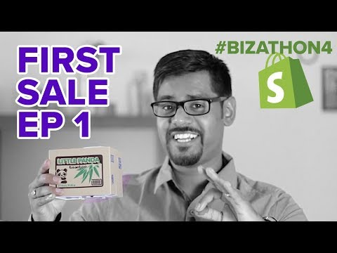 SHOPIFY BEGINNER TUTORIAL PT. 1 - Getting The First Sale (Bizathon4 Ep1) thumbnail