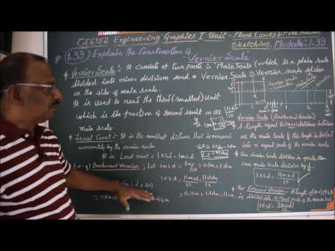 Construction of Vernier Scale - M1.39 - Engineering Graphics in Tamil