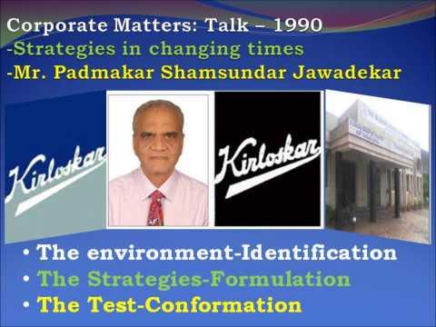 Corporate Matters   A Talk   Mr  Padmakar Shamsundar Jawadekar