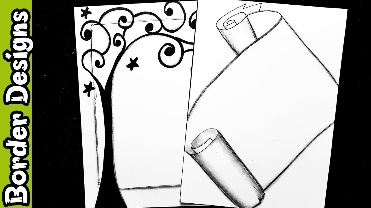 Border Design For Project Black And White