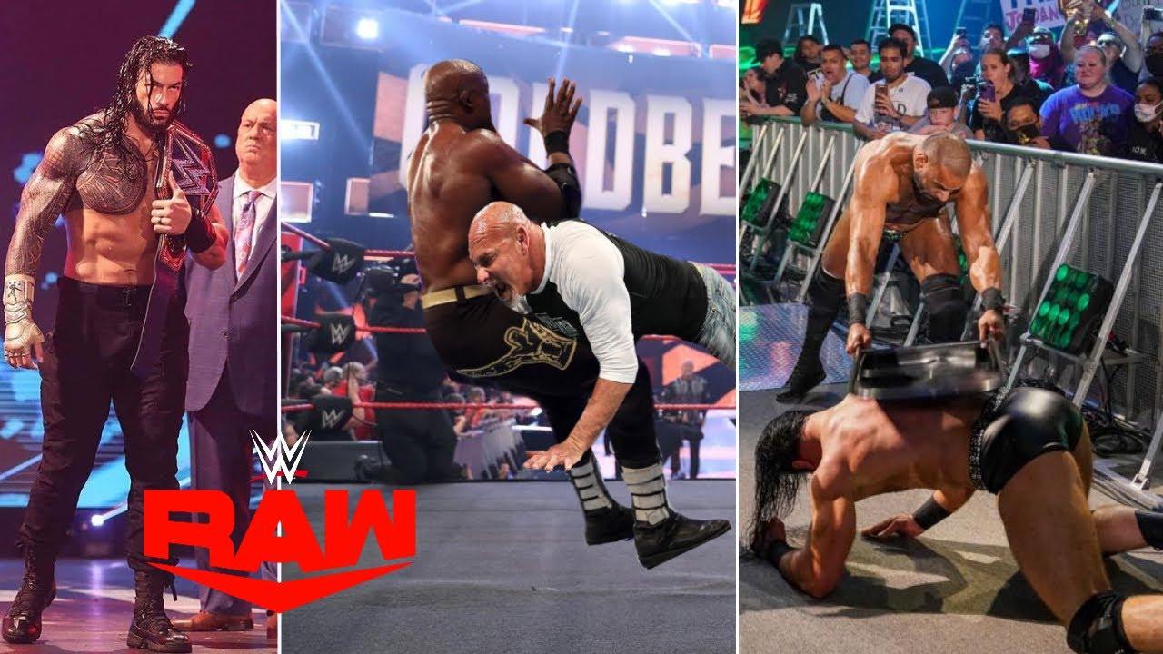 WWE Monday Night Raw 26th July 2021 Highlights, Roman reigns Vs. Finn Balor   Goldberg Spear Lashley