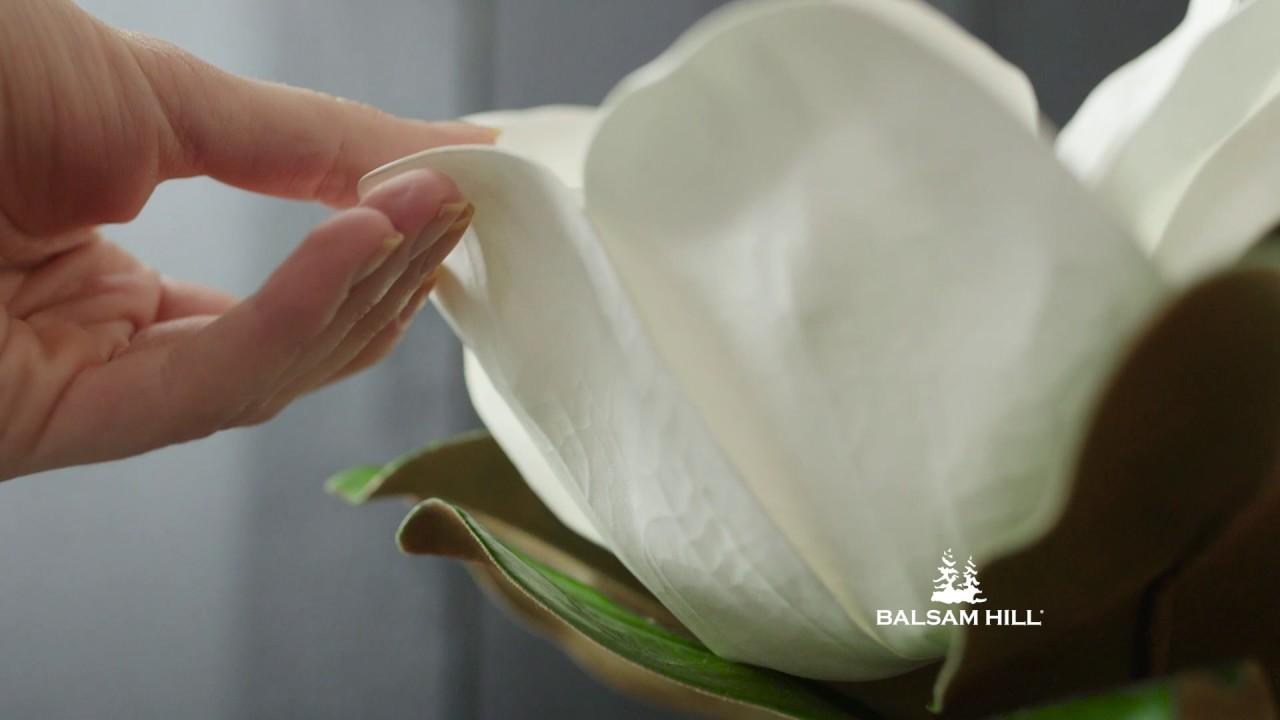 White Magnolia Flower Arrangement From Balsam Hill Youtube