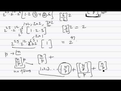 IITJEE - PandC-Exponent of p in n factorial-2 - YouTube