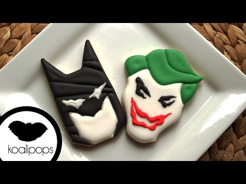 How to Decorate Batman and Joker Cookies | Become a Baking Rockstar