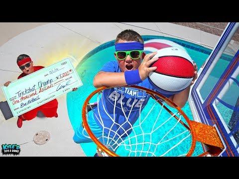 $1000 Basketball Trickshot Challenge VS My 13 Year Old Big Brother!