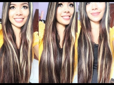 blonde and brown highlights on my hair youtube