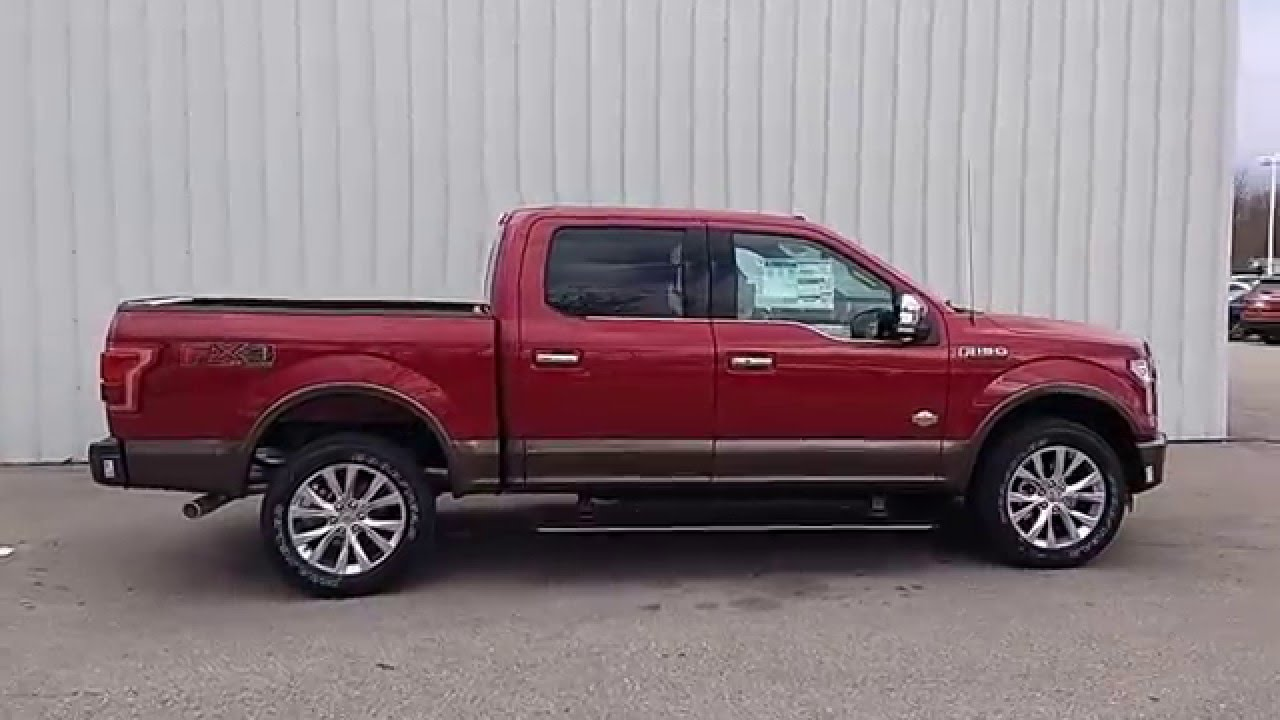 Ruby Red 2016 F 150 Supercrew 4x4 King Ranch 5 0l 5 5 601a