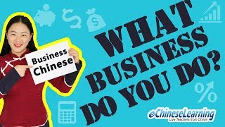 Business Chinese for Beginners:
