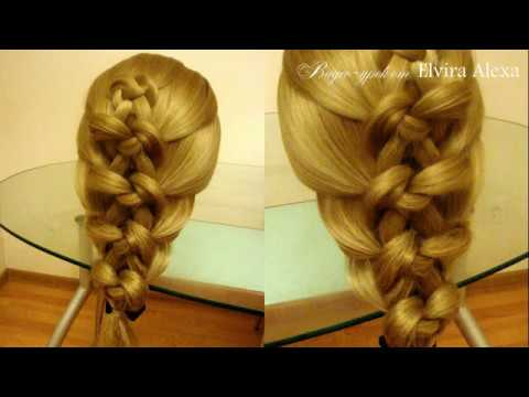Узел Жозефины Коса из узлов Причёска на каждый день Курс плетения кос Hair tutorial