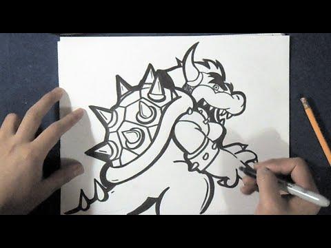 Come Disegnare Drago Bowser Mario Bros Youtube