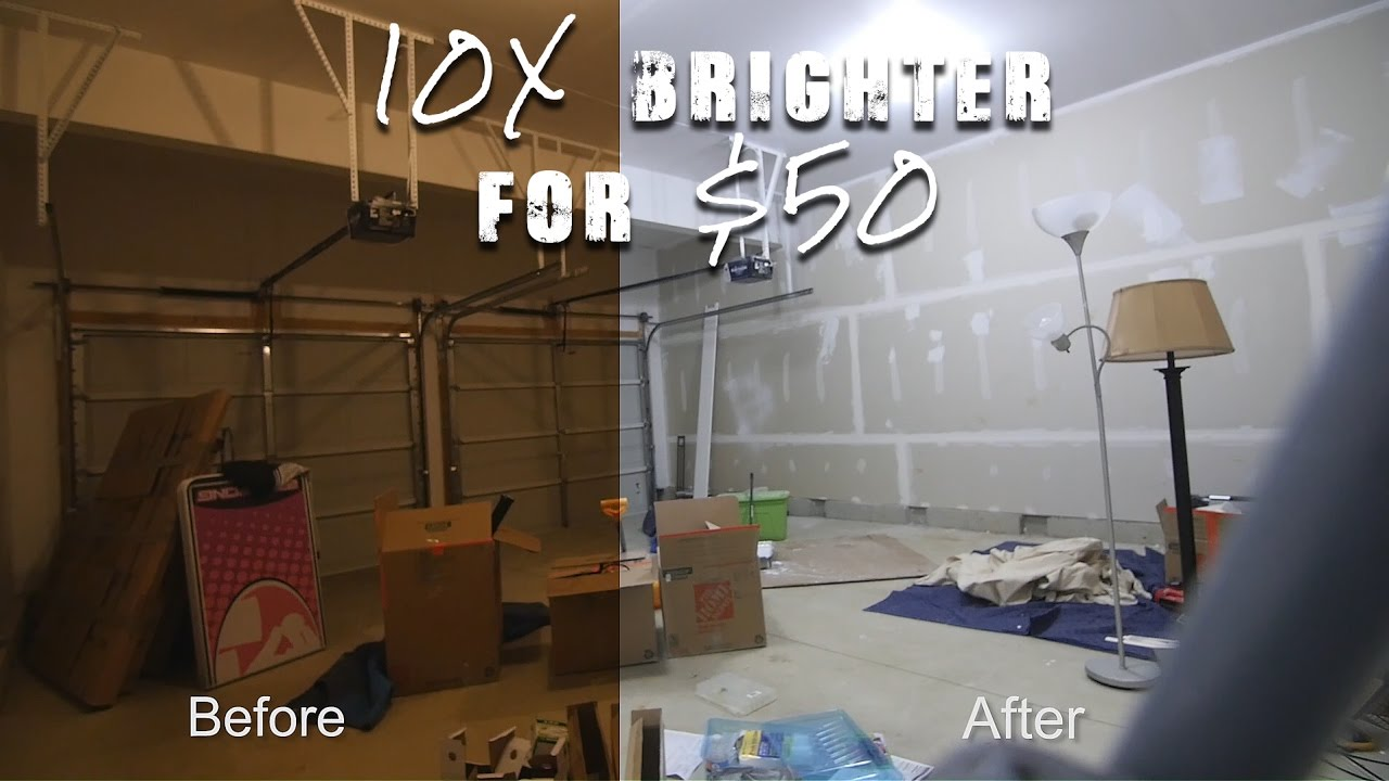 How To Make Your Garage 10x Brighter In 5 Minutes For 50