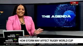 Japan's typhoon Hagibis threatens Rugby World cup: Smuts Ngonyama