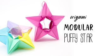 Learn how to make a pretty modular origami star, perfect for decora...