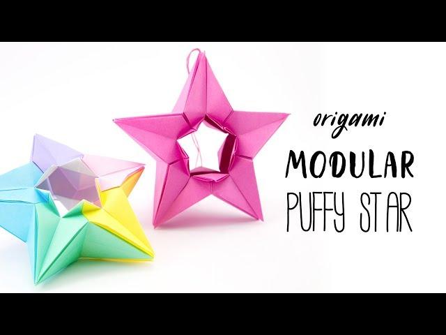 Modular Origami Puffy Star Tutorial (Salman Ebrahimi) Paper Kawaii
