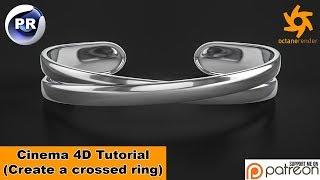 Model a crossed Ring (Cinema 4D Tutorial)