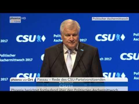 Politischer Aschermittwoch: Rede von Horst Seehofer am 01.03.2017