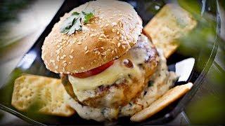 Новогодний крекер-бургер с индейкой и хреновым соусом 🎄 как приготовить в домашних условиях рецепт
