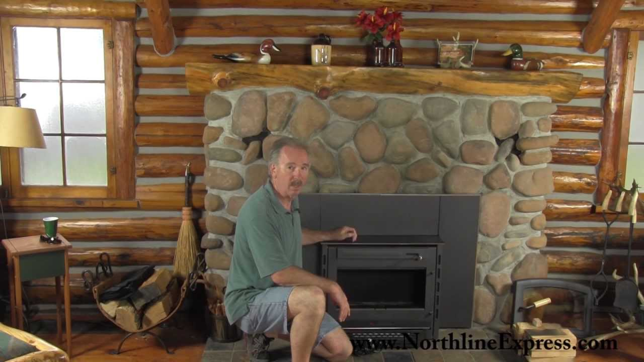 Installing a Volgalzang Colonial Wood Burning Stove Insert - YouTube