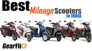Best Mileage Scooters in India | Hindi | GearFliQ