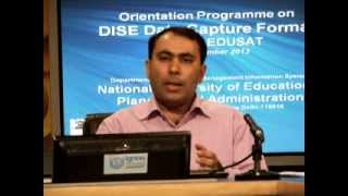 Discussion on DISE Data Capture Format: Shri Naveen Bhatia, Part I (English)