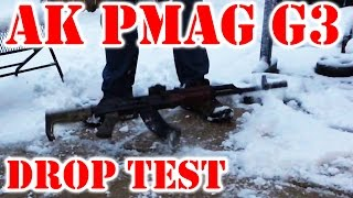 AK PMAG Gen3 Drop Test in the cold weather