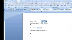 Repeat text in MS Word Using Document Property content controls