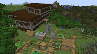 Minecraft Seed: Woodland Mansions with NPC Villages