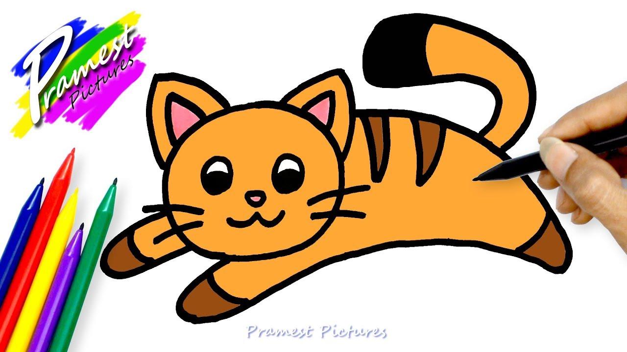 Kucing 2 Menggambar Dan Mewarnai Untuk Anak Youtube