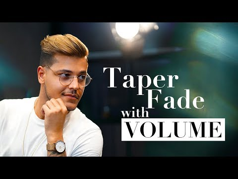 Taper Fade with VOLUME. Men´s hairstyle inspiration 2018