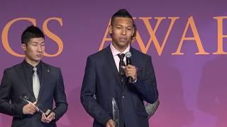 サニブラウン アブデルハキーム選手(優秀選手賞)!アスレティックス・アワード2017受賞者スピーチ